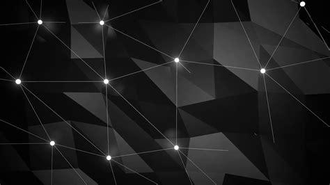 dark polygon looping background  light dots  lines