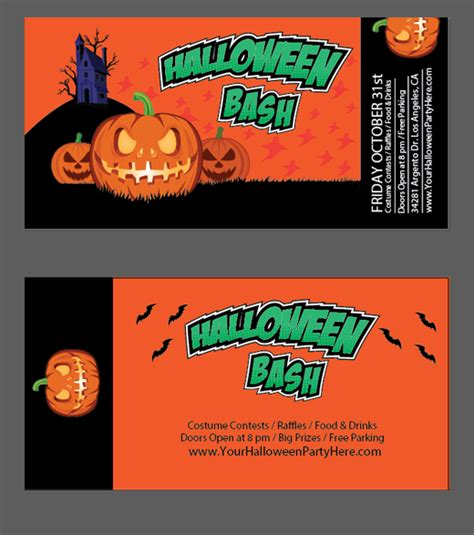 free halloween templates vector files nextdayflyers
