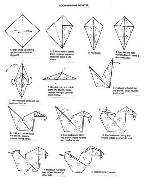 Origami Pages - free coloring pages origami diagrams 101 coloring pages