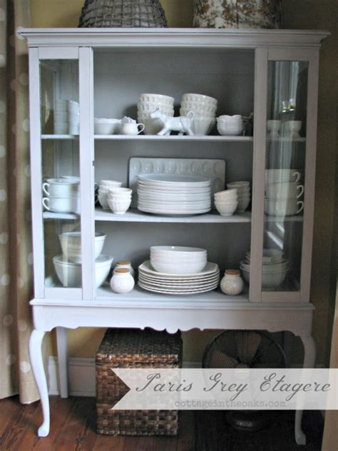 grey chalk paint diy grey etagere china cabinet diy ascp