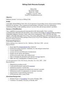 billing clerk resume sample resumes design