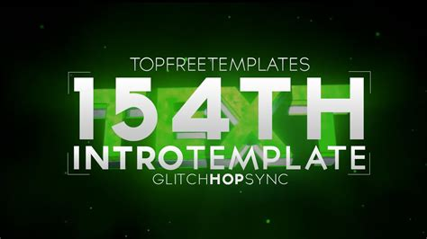 Free Intro Template Glitch Hop Sync 154 W Tutorial Youtube Top Free Templates