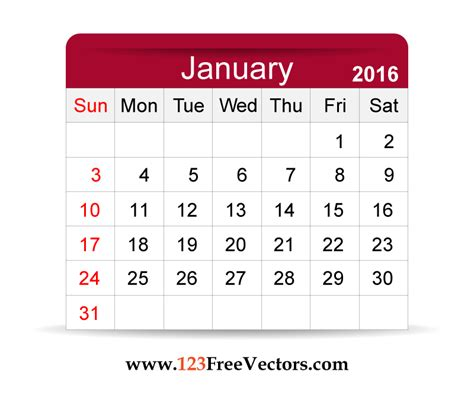 calendar image free vector 2016 calendar january free vector