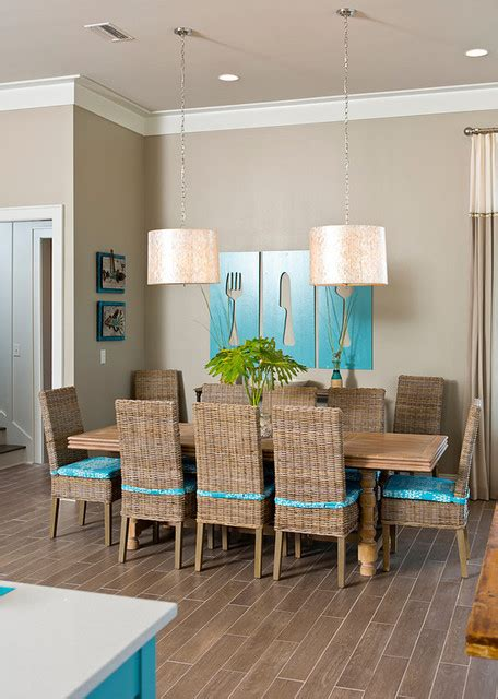 Beachy Dining Rooms by Home At The Style Dining Room