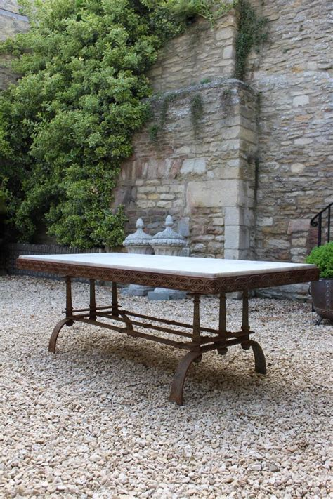 wrought iron garden table superb wrought iron garden table in the manner of