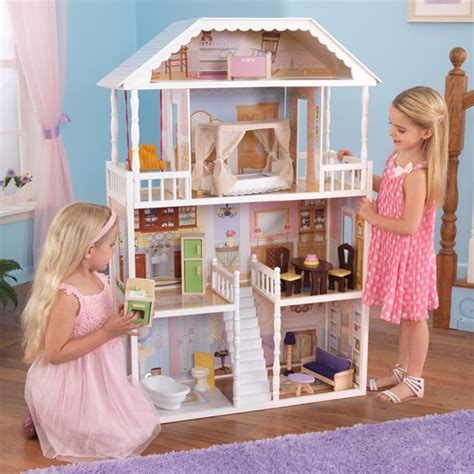 kid kraft doll house kidkraft savannah dollhouse with furniture walmart com
