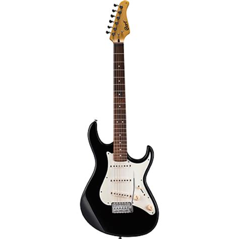 cort g240 electric guitar gloss black solid