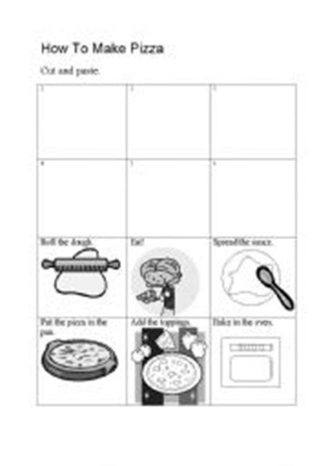 makes a pizza sequencing cards teaching worksheets pizza
