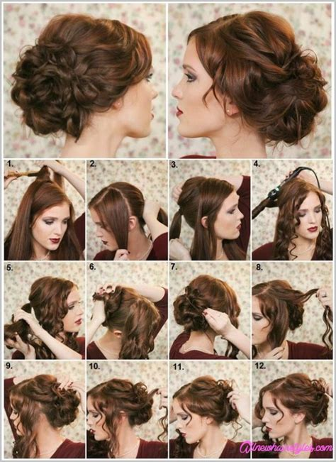easy diy hairstyles for long curly hair easy do it yourself prom hairstyles allnewhairstyles com