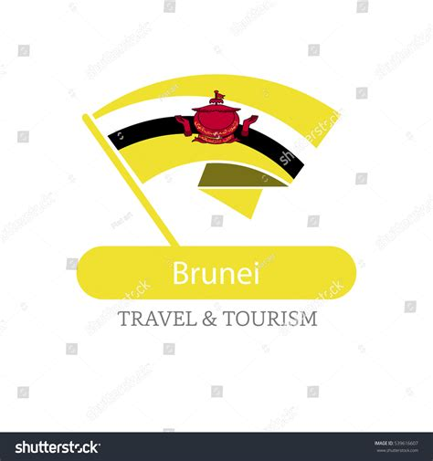 icon design brunei brunei travel destination logo vector travel stock vector