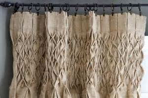 smocked drapery panels hand smocked jute curtain panel all things dining rooms
