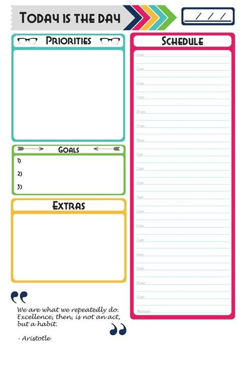 2014 Day Planner Free Printables Quot Popular Pins | 25 best ideas about daily planner pages on pinterest