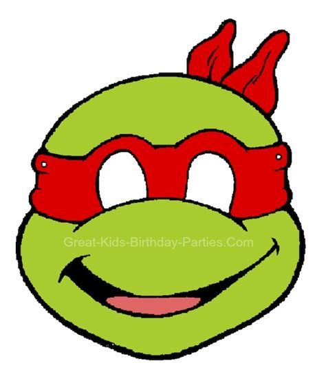 printable ninja mask ninja turtle cute face coloring pages