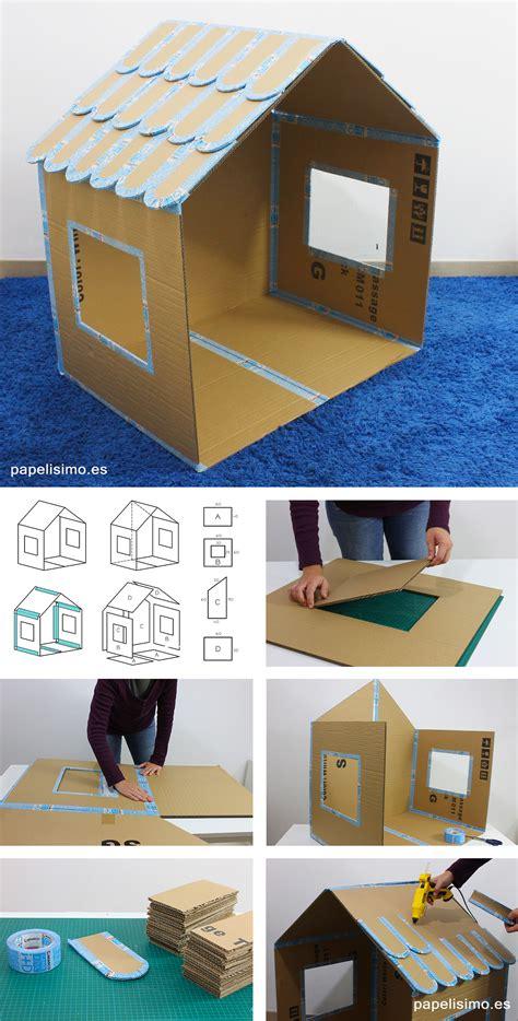 diy como hacer casitas portatarjetas c 243 mo hacer casa de cart 243 n para ni 241 os plegable papelisimo