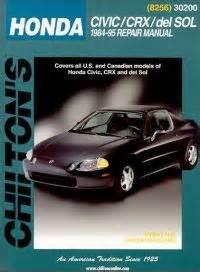 old car repair manuals 1984 honda cr x seat position control 1984 1995 honda civic crx and del sol chilton s total car care manual