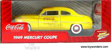 Coca Cola 1949 Mercury Johnny Lightning 1949 mercury coupe coke car by johnny lightning 1 18 scale diecast model car wholesale 51000am