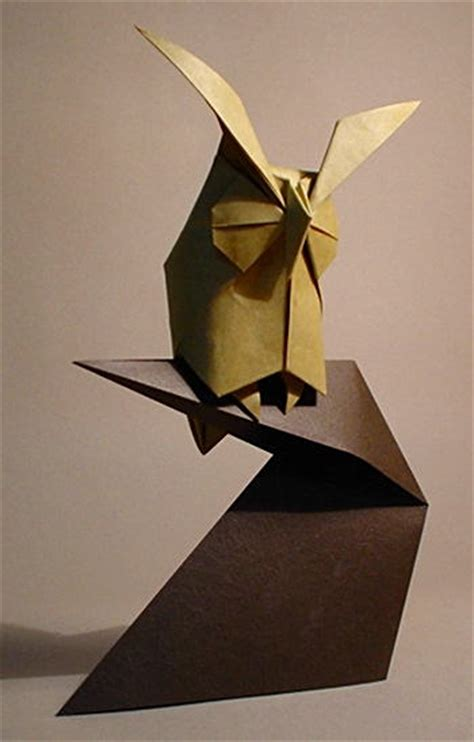 Owl Origami - owl komatsu hideo origamidaily library