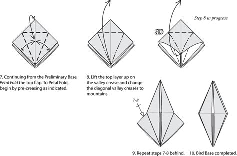 How To Make Origami Bird Base - origami bases preliminary square and bird bases