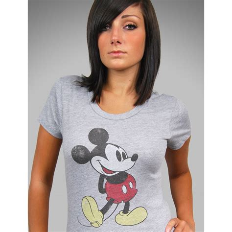 Miky Blouse mighty grey retro mickey mouse t shirt grey