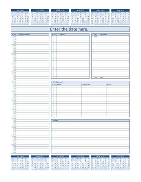 Editable Daily Calendar Calendar June Editable Daily Planner Template
