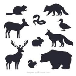 Animal Silhouettes Templates by Animales Siluetas Colecci 243 N Descargar Vectores Gratis
