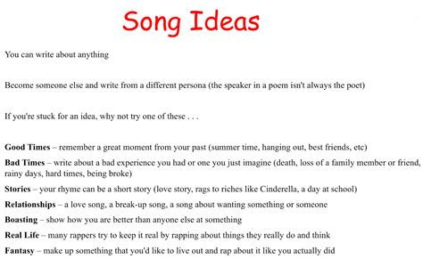 how to write a song title in a paper writing rap songs with students silent cacophony