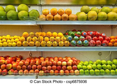 Shelf Of Fruit by Fruit Shelf Stock Image Instant Csp6875936