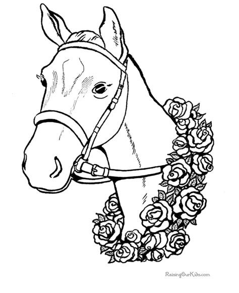 Horse Coloring Pages Horse 003 Coloring Pages To Print For Free