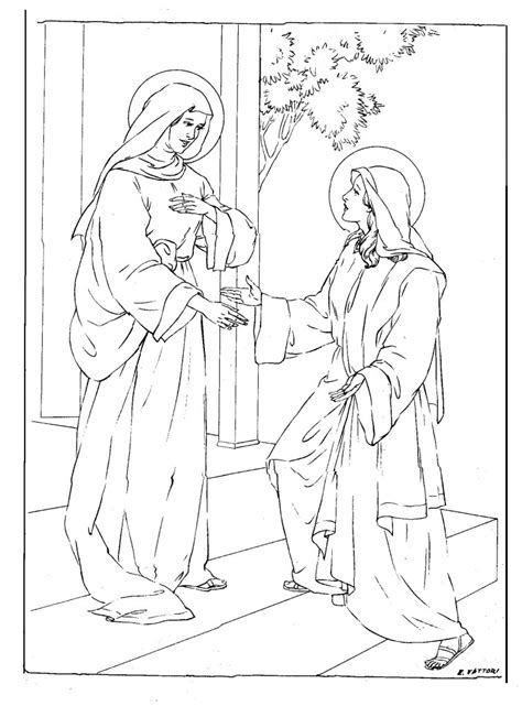 free coloring pages of jesus mother mary