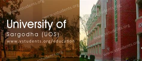 Uol Fee Structure For Mba by Uos Of Sargodha Admission 2018 Last Date And