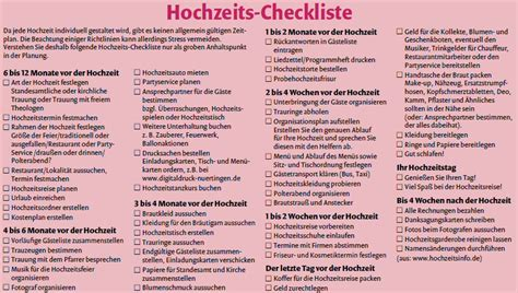 Hochzeit Checkliste by Hochzeit Standesamt Checkliste Die Besten Momente Der