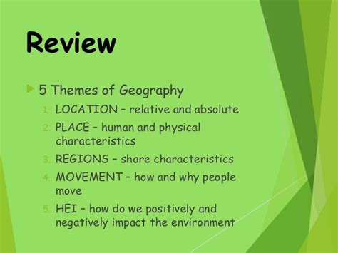 5 themes of geography summary five themes of geography 08