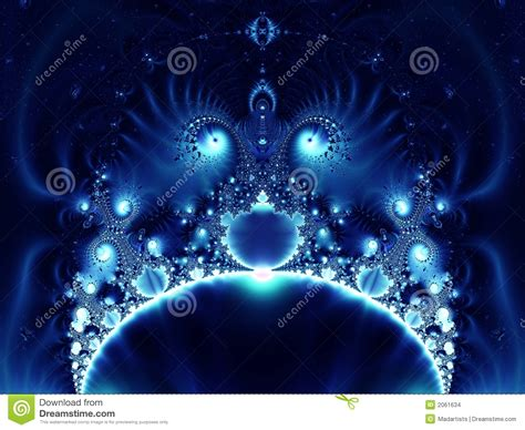 Kaos 3d White Glow In The blue glowing fractal stock images image 2061634