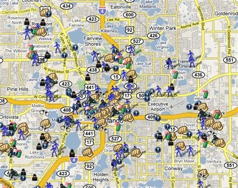 Orlando Crime Map by Spotcrime Is Mapping Crimes In Orlando Florida