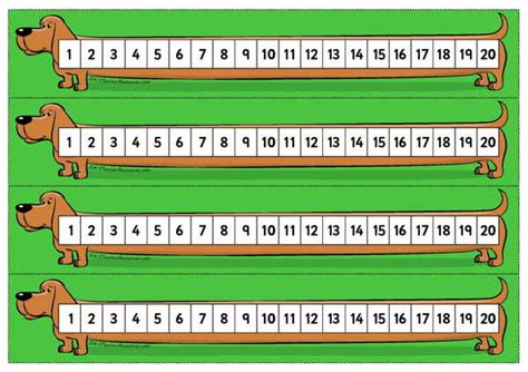 printable number line wall display printable desktop number line to 20