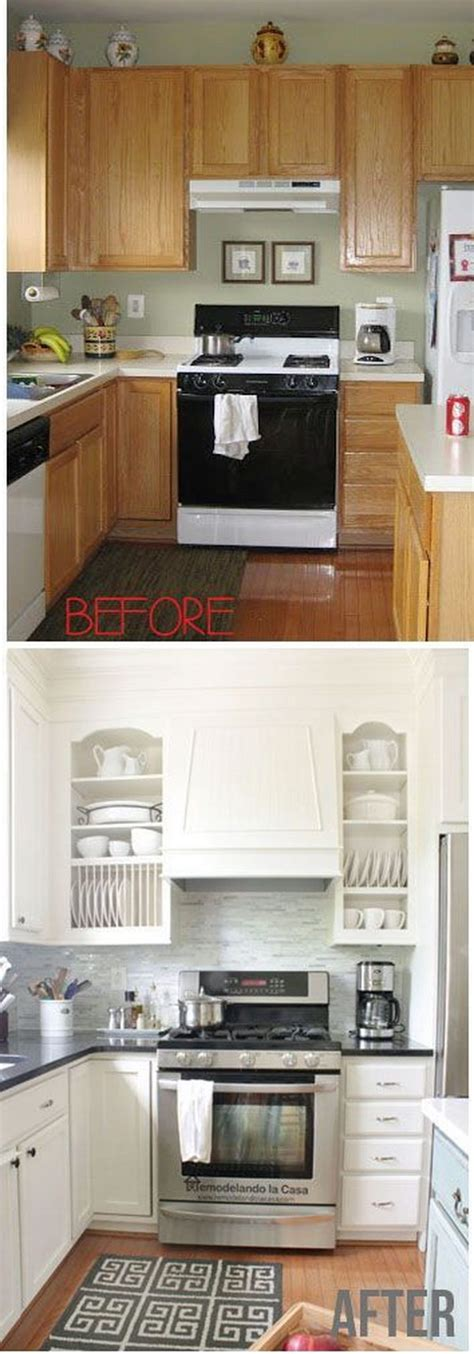 cheap kitchen makeover ideas before and after pretty before and after kitchen makeovers