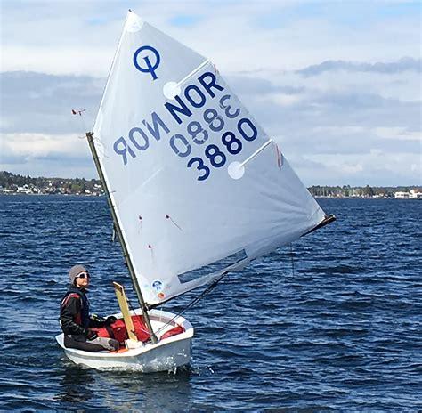 jacht optymist john 216 yvind garvik wins first event of optimist norwegian