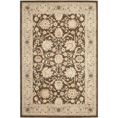 Safavieh Florenteen Rug Safavieh Florenteen Brown Ivory 5 Ft 1 In X 7 Ft 7 In Area Rug Flr125 2512 5 The Home Depot