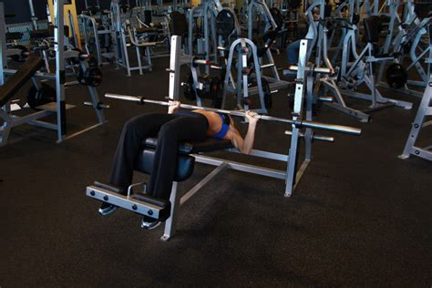 wide grip decline bench press wide grip decline barbell bench press exercise guide and video