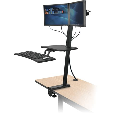 balt up rite desk mounted sit and stand workstation 90531 b h