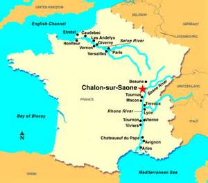saone river map