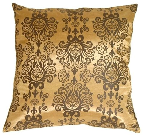 Gold Pillows Decorative by Pillow Decor Gold With Brown Baroque Pattern Throw