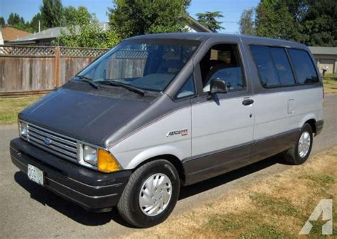 1987 ford aerostar information and photos momentcar