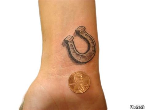 horseshoe wrist tattoo 10 shoe tattoos designs