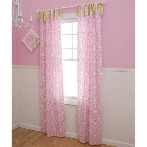 pink and white curtains for nursery pink damask drapes nursery curtains in pink and white damask carousel designs