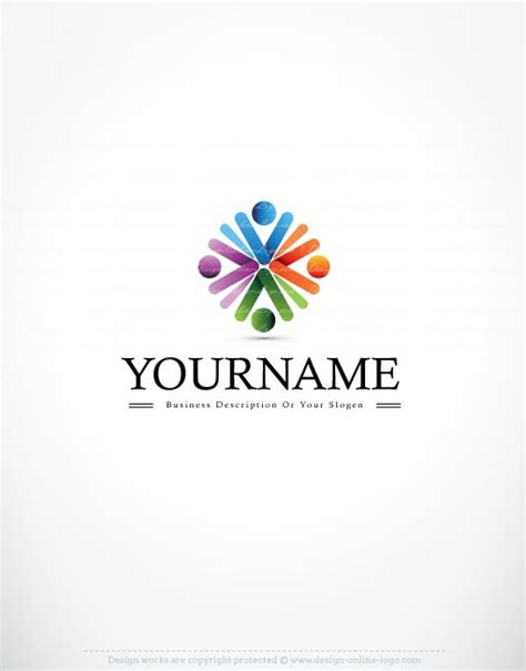 design a group logo exclusive logo template people flower logo image
