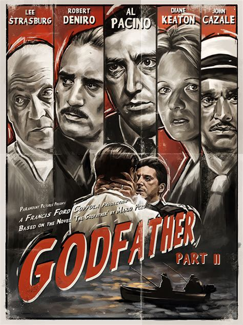 mafioso part 2 books the godfather part ii noir poster on behance