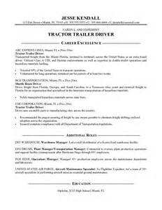 Sample Resume Format Driver by Example Tractor Trailer Driver Resume Free Sample