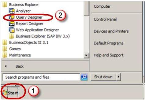 tutorial sap query designer sap bex query designer tutorial query elements