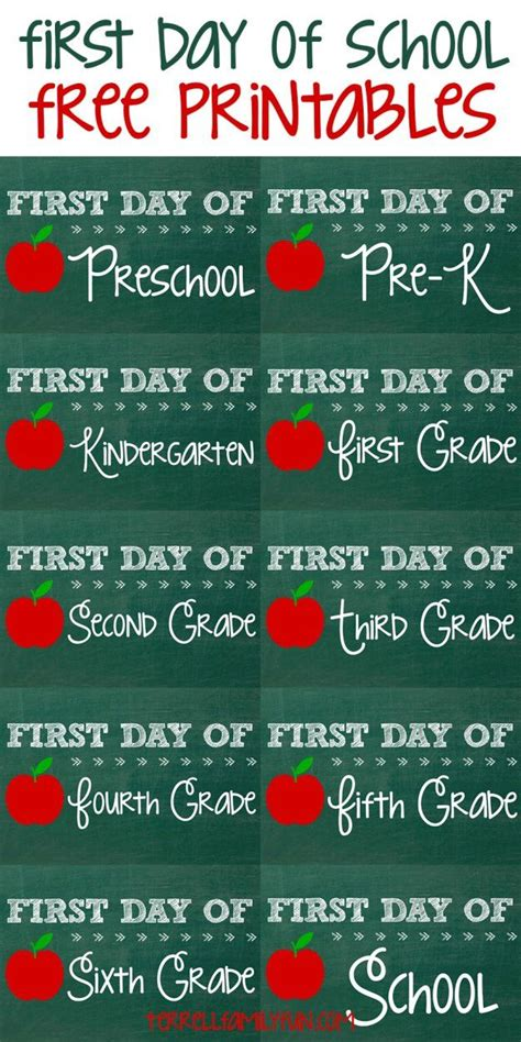 libro schools first day of free first day of printables